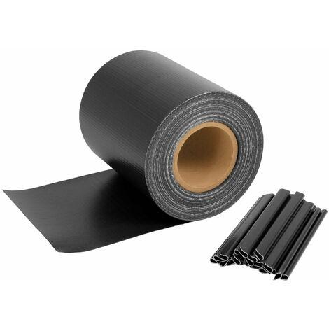 Bande d'intimité pour tapis à double tringle | 70 m x 19 cm | anthracite