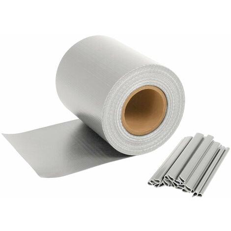 Bande d'intimité pour tapis à double tringle | 70 m x 19 cm | gris