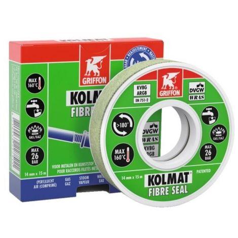 Bande étanchéité raccord fileté KOLMAT FIBRE SEAL-12mmx15ml