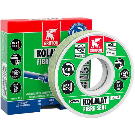 Bande étanchéité raccord fileté KOLMAT FIBRE SEAL-14mmx15ml
