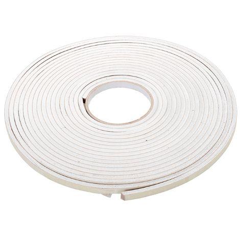 Bande isolante autocollante en mousse EVA 3-8 mm / 10,5 m - Blanc
