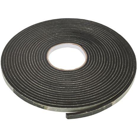 Bande isolante autocollante en mousse EVA 3-8 mm / 10,5 m - Noir