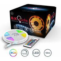 Bande LED 10m dimmable bande lumineuse RGB stripes multicouleur guirlande lumineuse télécommande