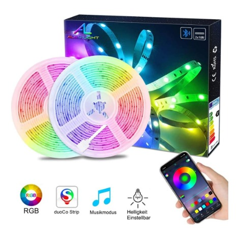 """main image of """"Bande LED 20M Bande LED 150 RGB avec télécommande changement de couleur mode statique et 5050"""""""