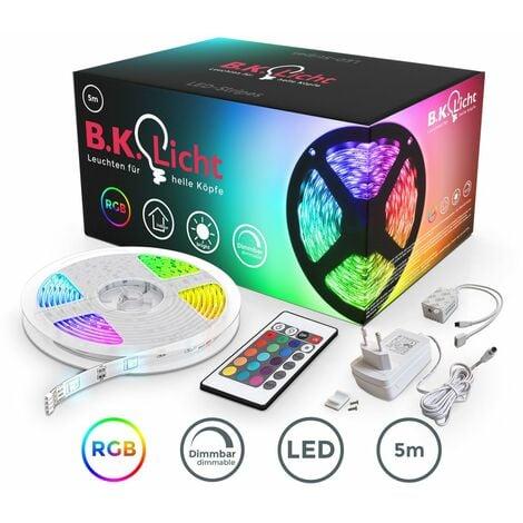 Bande LED 5m stripe RGB éclairage décoratif bande lumineuse RGB changement de couleurs