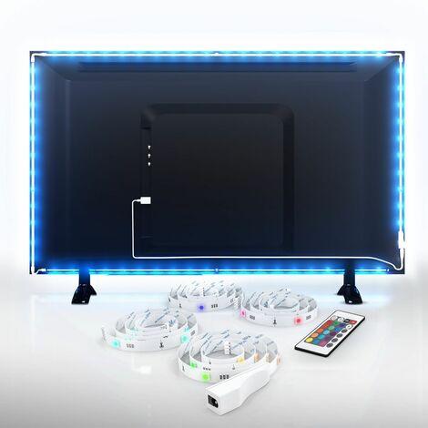Bande LED TV éclairage décoratif télé USB bande LED changement de couleur télévision