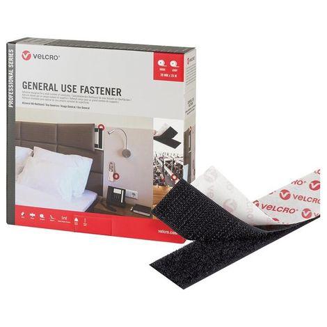 Bande Velcro Fixation à usage général VELCRO 20mm x 25m noir