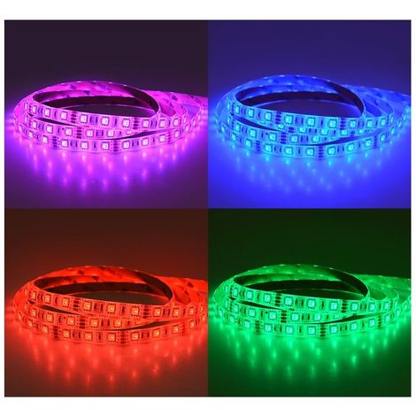 BANDEAU 5m LED 72W 12VDC IP65 (polyuréthane) RGB