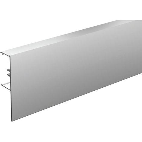Bandeau alu anodisé MANTION pour fixation du rail au mur SAF40/SAF80 - L.3 m - 11041/300