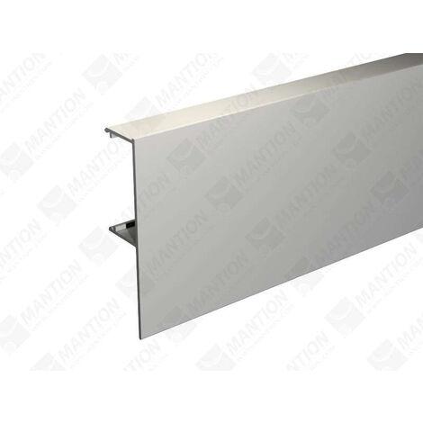 Bandeau alu anodisé MANTION pour fixation rail sous plafond SAF40/SAF80 - L.2 m - 11011/200