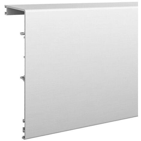 Bandeau aluminium anodisé 2010 mm SLID'UP 190 pour porte jusqu'à 25 mm - Argent
