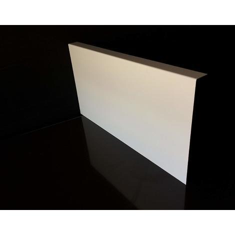 Bandeau de Rive Blanc Aluminium RAL 9010 Longueur 140 cm