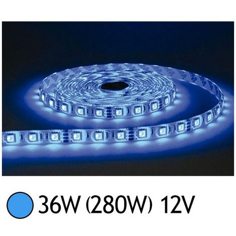 Bandeau LED 36W (280W) 12V IP65 (Epoxy) Bleu