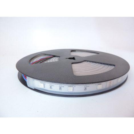 Bandeau LED 36W RGB flexible extérieur longueur 5m 30leds/m alimentation 12V DC (non incl) IRC80 IP66 TRAJECTOIRE 003790