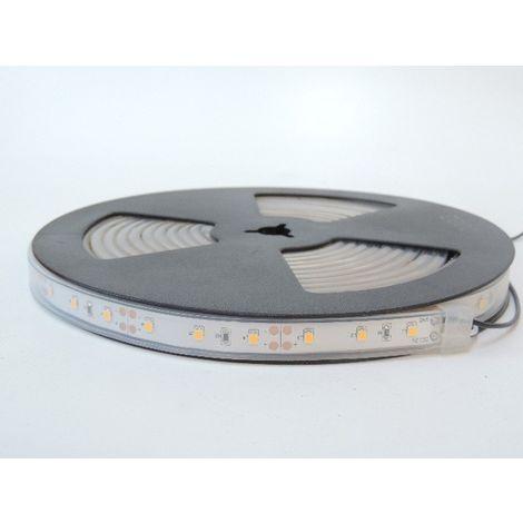 Bandeau LED 72W 3000K flexible extérieur longueur 5m 60leds/m alimentation 12V DC (non incl) IRC80 IP66 TRAJECTOIRE 003780