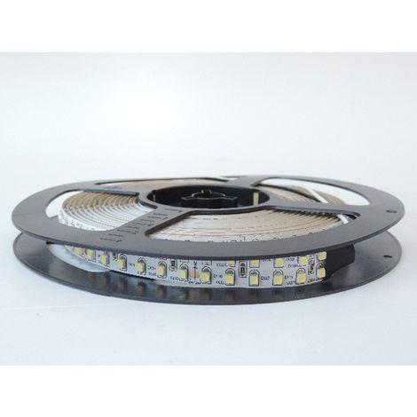 Bandeau LED 96W blanc 6000K flexible intérieur longueur 5m 240leds/m alim 24V DC (non incl) IRC80 IP20 TRAJECTOIRE 003774