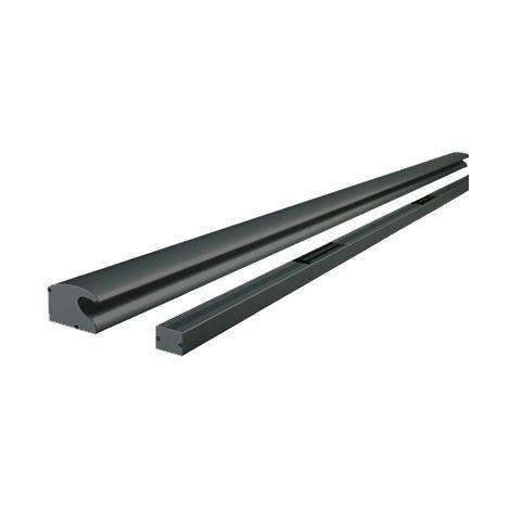 Bandeau ventouse 2X300KG GROOM tri-tension 12/24/48V automatique - 2500 mm - Noir 9005 - GRS332155