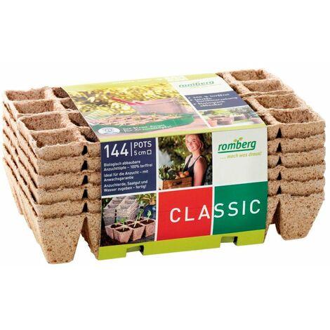 Bandeja de Fibra de Coco Biodegradables. 100% Ecológico. 144 Alveolos