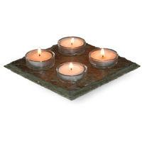 Bandeja de piedra decorativa 4 velas - Jardin y Natura