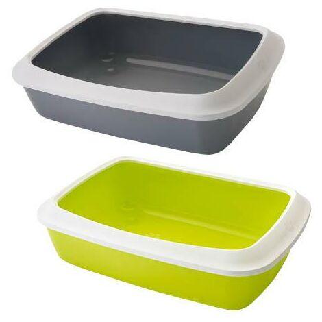 Bandeja para gatos WC Arenero Modelo Iriz, diseño moderno, bandeja baja para fácil acceso, diferentes colores a elegir