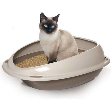 Bandeja sanitaria para gatos Shuttle con protector superior para gatos Record
