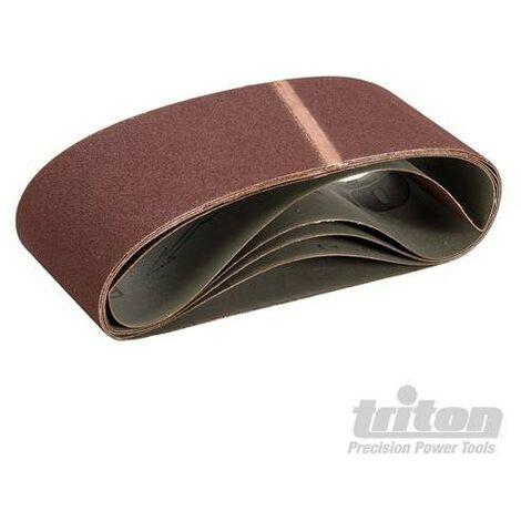 Bandes abrasives 100 x 610 mm, 5 pcs, Grain 100