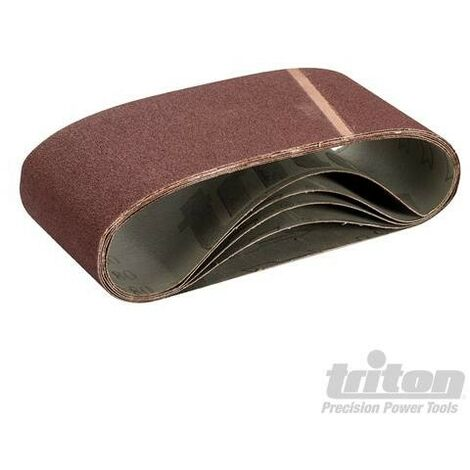 Bandes abrasives 100 x 610 mm, 5 pcs, Grain 80