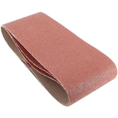 Bandes abrasives 100x560 60g par 3 pour Ponceuse Ryobi, Ponceuse A.e.g, Ponceuse Elu