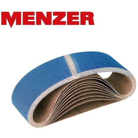Bandes abrasives MENZER, corindon de zirconium, 533 x 75 mm, G36–120