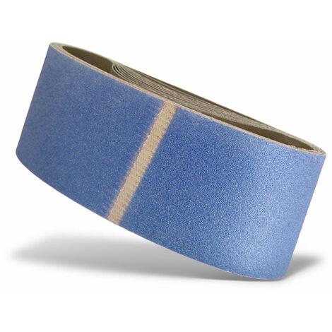 Bandes abrasives MENZER, corindon de zirconium, 610 x 100 mm, G36–120