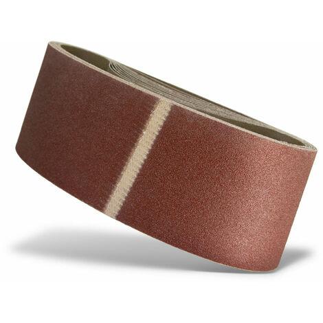 grain 120 610 x 100 mm Lot de 10 MENZER Bandes abrasives pour ponceuses /à bande
