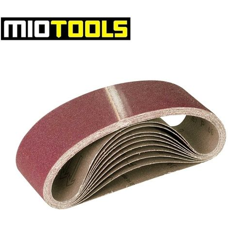 Bandes abrasives MioTools, corindon normal, 533 x 75 mm, G36–120