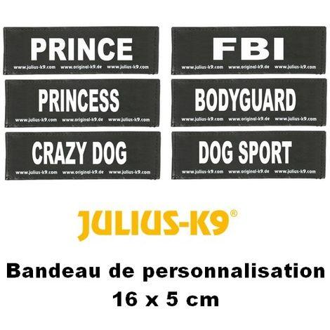 Bandes de personnalisation 16 x 5 cm pour harnais Julius K-9 Désignation : CRAZY DOG Julius K9 600523