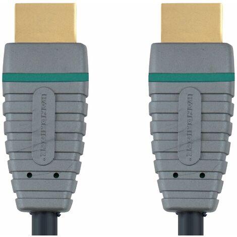 Bandridge Cable HDMI macho - macho de 3 metros con Ethernet, admite 4K2K 3D TV, interior de cobre sin oxígeno