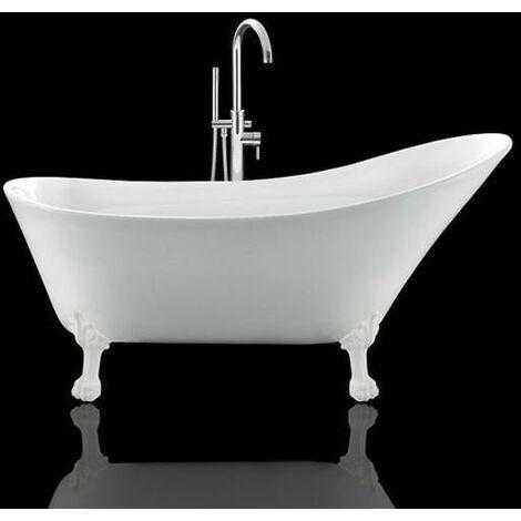 Bañera con patas BALMAIN - - Patas de LEÓN BLANCAS