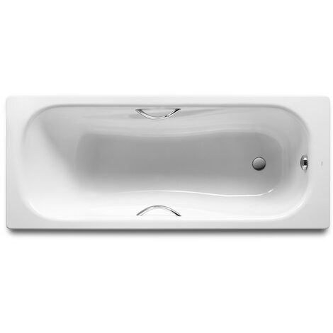 Bañera de acero rectangular con fondo antideslizante PRINCESS - ROCA - Medidas: 1700X700 mm.