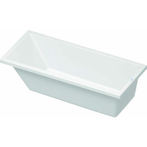 Bañera de aire Duravit Vero, versión empotrada 170x75cm, un respaldo inclinado, 700412 - 700412000000000
