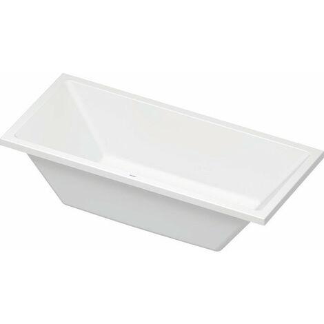Bañera de aire Duravit Vero, versión empotrada 180x80cm, dos vertientes traseras, 700413 - 700413000000000