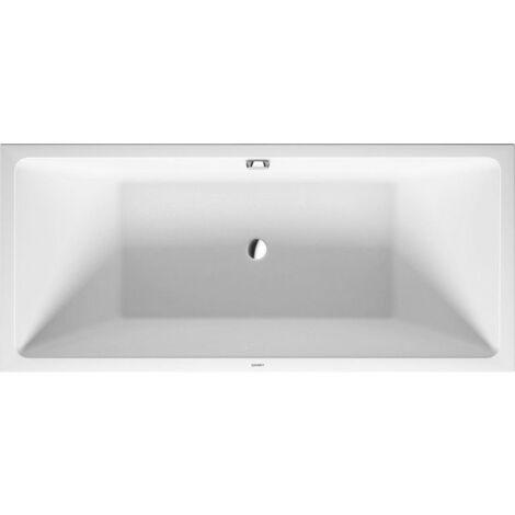 Bañera de aire Duravit Vero versión pre-pared 180x80cm, revestimiento acrílico sin costuras, dos vertientes traseras, 700417 - 700417000000000