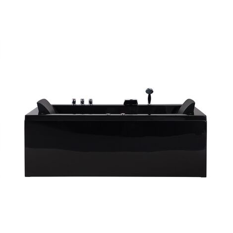 Bañera de hidromasaje derecha en negro VARADERO