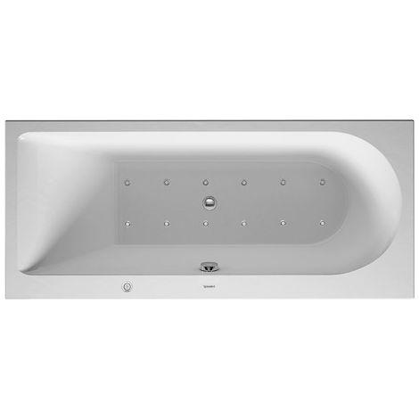 Bañera de hidromasaje Duravit Darling Nuevo rectángulo 1700x600mm, versión empotrada o para revestimiento de bañera, 1 respaldo inclinado a la izquierda, marco y desagüe y rebosadero, Combi E - 760238000CE1000