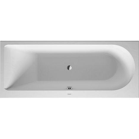 Bañera de hidromasaje Duravit Darling Nuevo rectángulo 1700x700mm, versión empotrada o para revestimiento de bañera, 1 respaldo inclinado a la izquierda, marco y desagüe y rebosadero, Combi P - 760240000CP1000