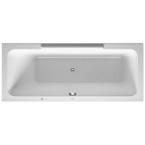 bañera de hidromasaje Duravit DuraStyle 1700x700mm, versión empotrada o para revestimiento de bañera, 1 respaldo inclinado a la derecha, marco, desagüe y rebosadero, Airsystem - 760295000AS0000