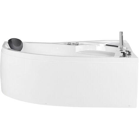 Bañera de hidromasaje esquinera blanca LED izquierda NEIVA