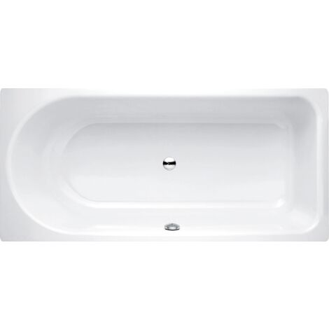 Bañera de hidromasaje Ocean 170x80 cm, 8865, frontal rebosadero, blanco, color: Blanco con BetteGlasur Plus - 8865-000,Plus