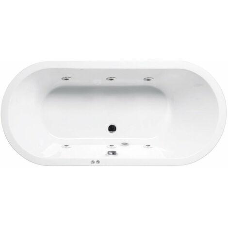 Bañera de hidromasaje ovalada LOFT blanca SANYCCES