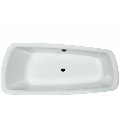 Bañera de hidromasaje Palomba versión empotrada 1800x800x455 blanco, borde de bañera 80mm - H2438000000001