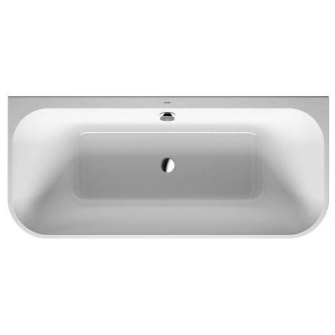 Bañera Duravit Happy D.2 180x80cm, versión de pre-pared, 700318, con revestimiento y marco de acrílico moldeado - 700318000000000