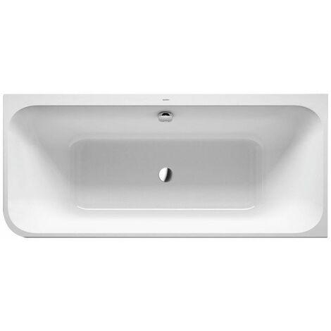 Bañera Duravit Happy D.2 Plus 180x80cm, esquina derecha, 700450, 2 inclinaciones traseras, con revestimiento acrílico en grafito supermatt y marco - 700450800000000