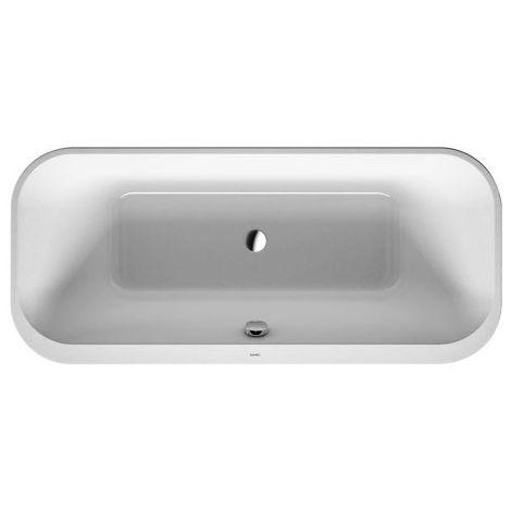 Bañera Duravit Happy D.2 Plus 180x80cm, independiente, 700453, 2 inclinaciones traseras, con revestimiento acrílico, color: Bañera en blanco con revestimiento acrílico Graphite Supermatt - 700453800000000